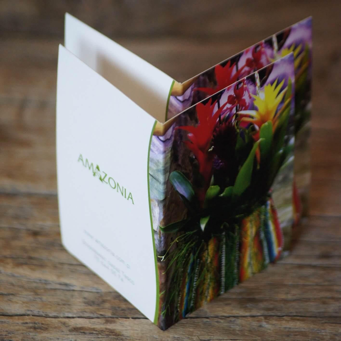 Bileciki do bukietu - przykładowy projekt dla Kwiaciarni Amazonia