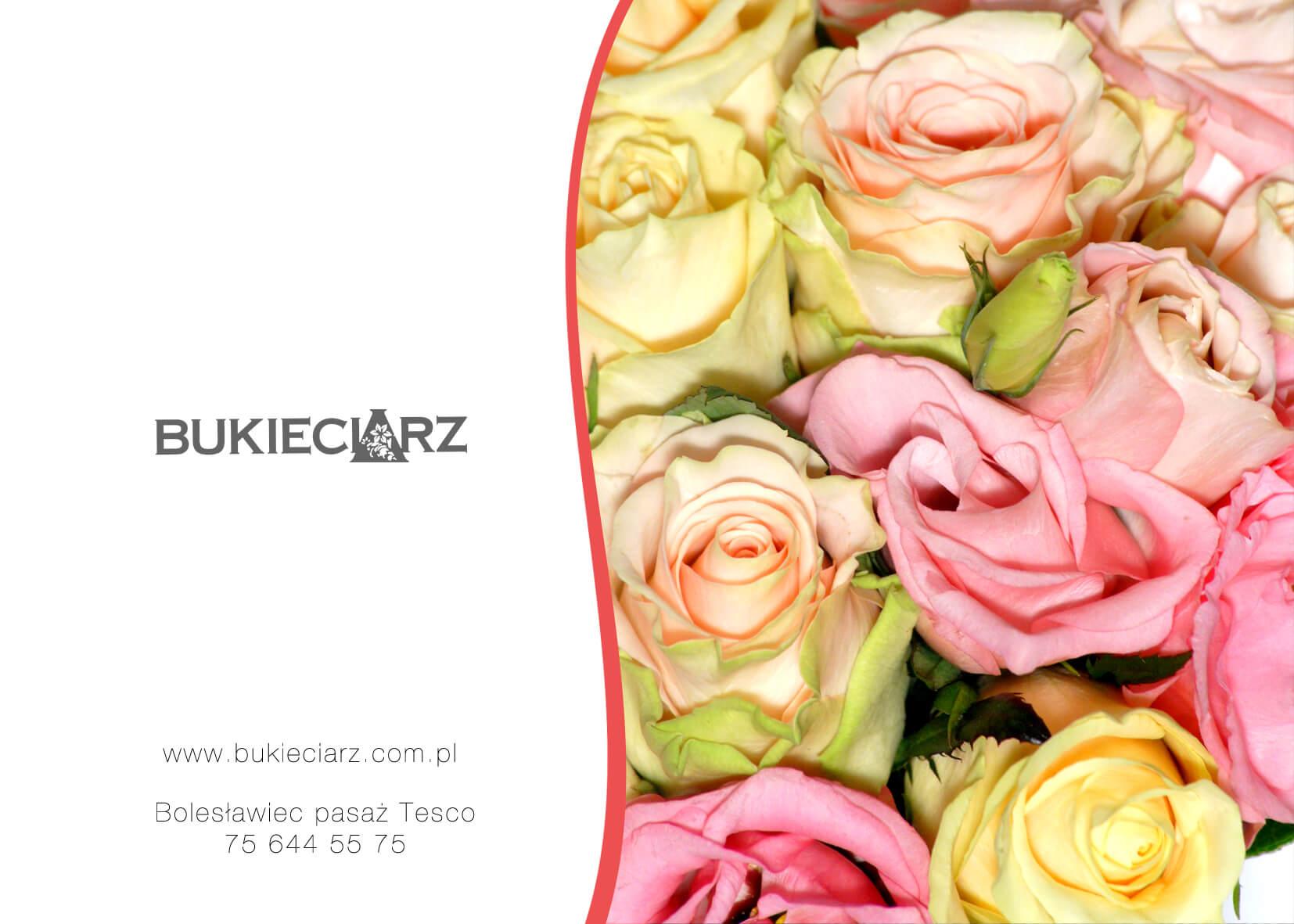 Bileciki do bukietu - przykładowy projekt dla Kwiaciarni Bukieciarz