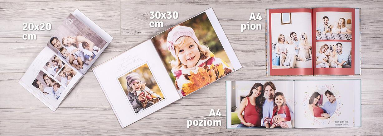 Fotoksiążka może mieć wiele formatów
